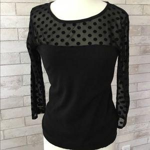 AUGUST SILK Lightweight Sweater, Black, Medium
